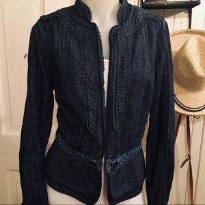 Anthropologie Elevenses Denim Jacket -12 cotton